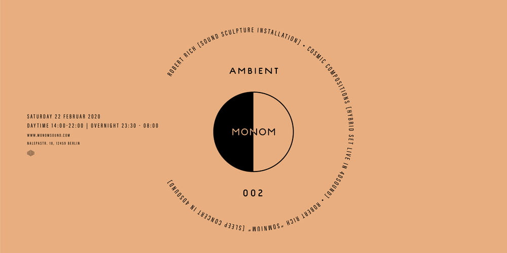 Tickets Daytime  - Ambient 002 ft. Robert Rich's Sound Sculpture Installation  & Cosmic Compositions Live,  in Berlin